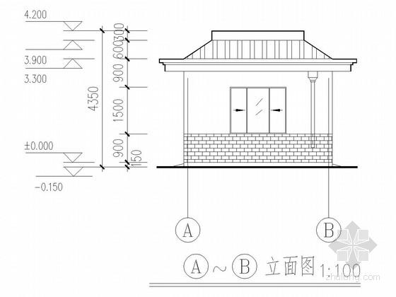 水泵房建筑结构全套图纸
