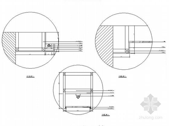 [湖南]高档样板房三居室设计CAD施工图(含效果)剖面图
