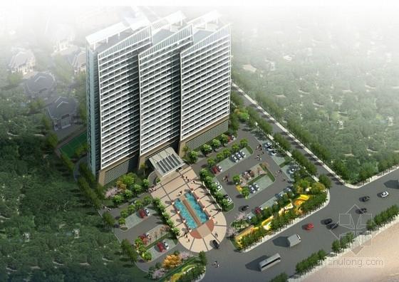 [山东]风帆造型高层商务度假酒店建筑设计方案文本