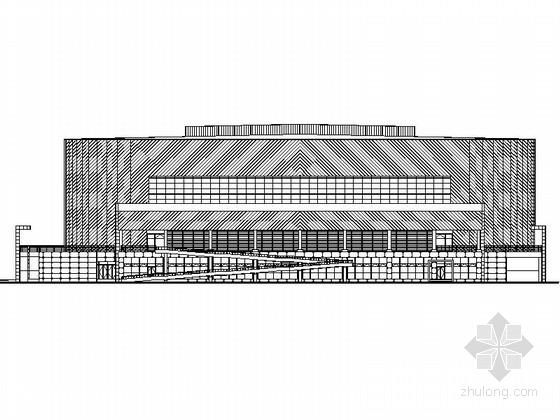 [北京]三层体育馆建筑设计方案图(含商业)