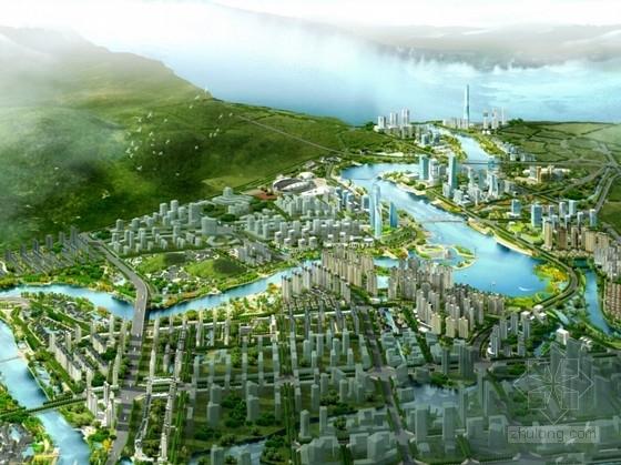 [福建]滨河现代风格城市规划设计方案文本(250余张详图)
