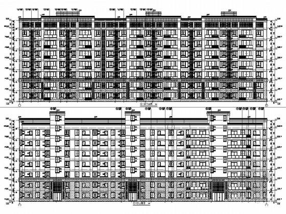 6000平七层框架结构住宅楼结构施工图(含建筑施工图)