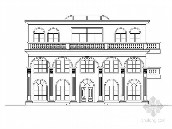 三层超豪华独立别墅方案图(超大客厅)