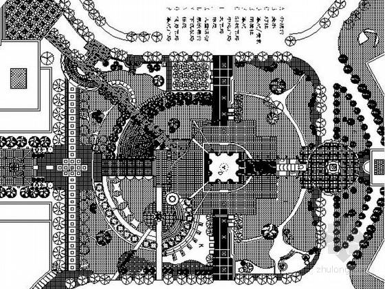 某地休闲观光一体式城市广场景观设计施工图
