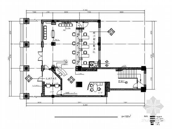 [吉林]国有控股现代金融机构支行室内装修施工图(含电气及暖通图)
