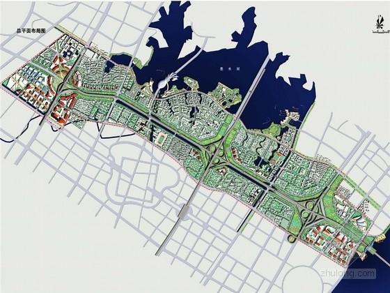 [武汉]山水园林城市现代滨水居住新城区域设计方案