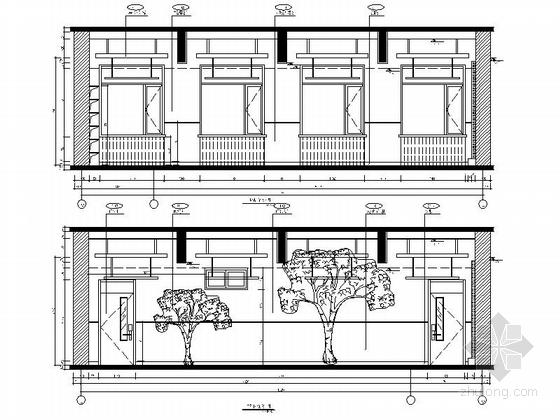 [原创]现代风格小学室内设计装修施工图(含高清效果)自然教室立面图