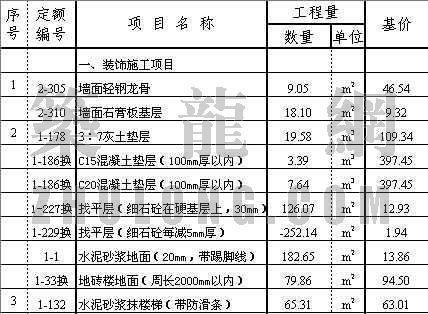 天津某边防检查站总体工程预算书