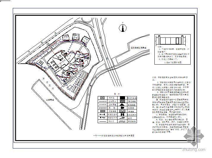广州某医院群体建筑施工总平面图