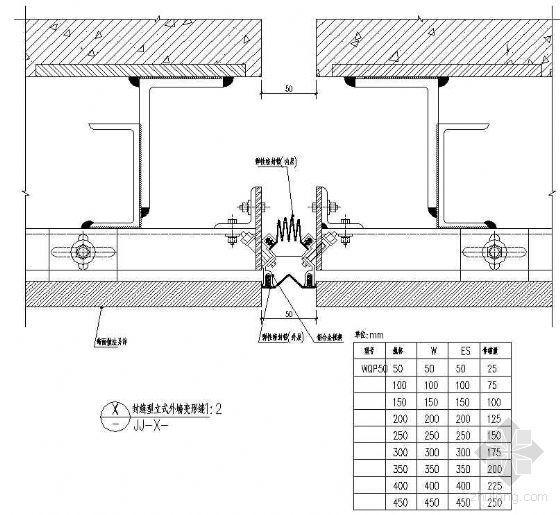 封缝型立式外墙变形缝(一)