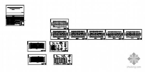 [安徽]某小型住宅小区七幢住宅楼群建筑施工图-2
