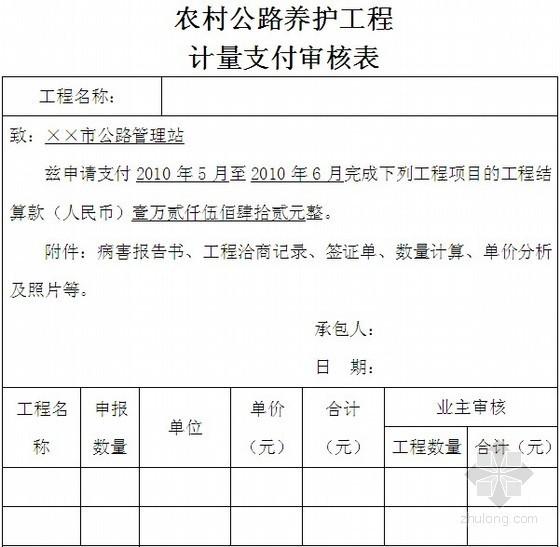 农村公路养护小修保养工程结算书(盖板涵基础病害处理)