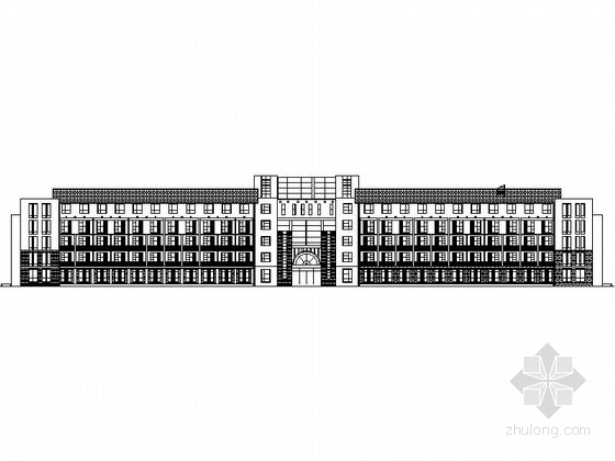 某五層中式風格敬老院建筑擴初圖