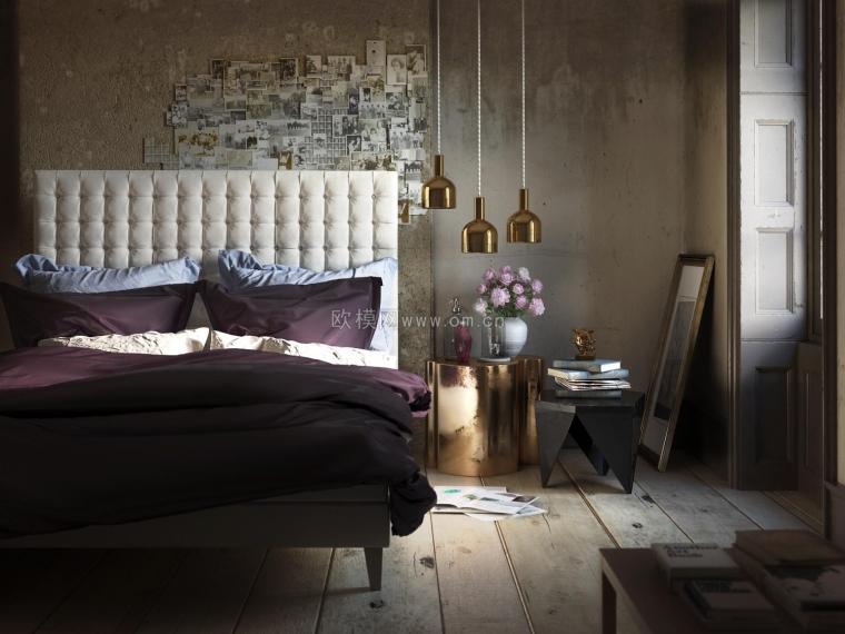 理想型卧室装修,周末就窝在这里面不想出门了哈哈哈~欧模网-14720088059872.jpg