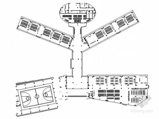 [重庆]历史悠久现代小学室内二次装修施工图