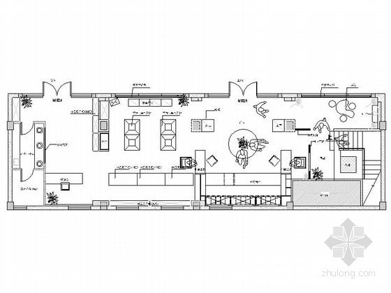 [河北]唯一专营中草药新中式风格药店室内装修施工图(含效果)