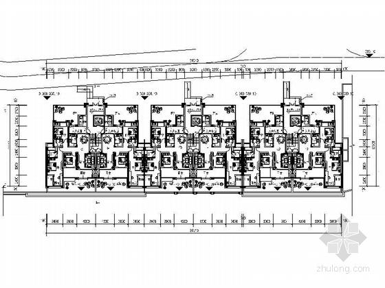 古典风格住宅区规划设计平面图