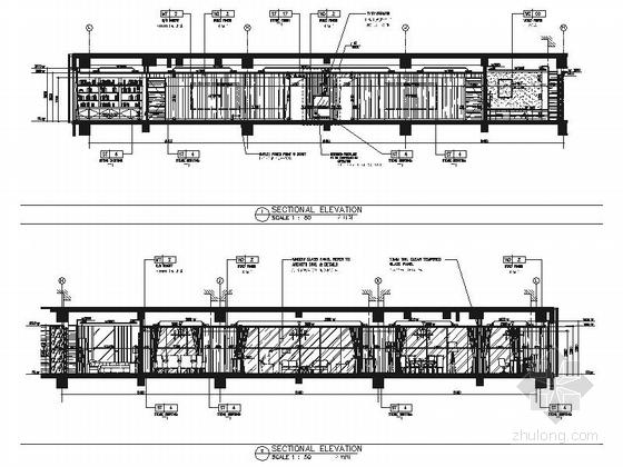 [浙江]全球国际化金融中心高档现代风格综合性酒店装修施工图(含效果)总统套房立面图