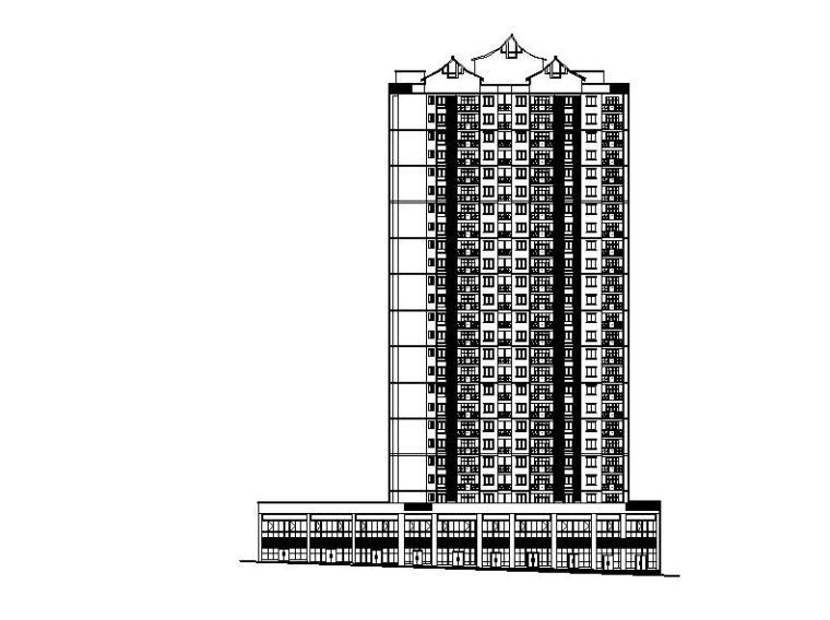 [重庆]高层幕墙立面塔式住宅楼建筑施工图