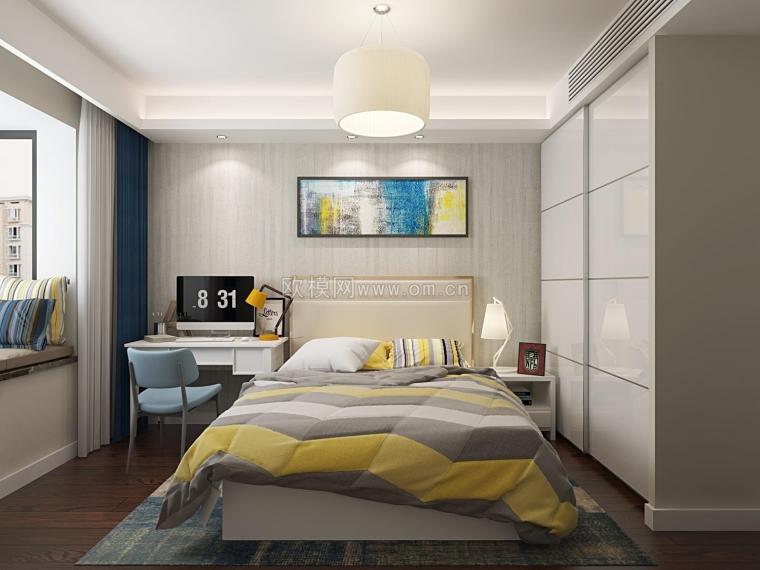 理想型卧室装修,周末就窝在这里面不想出门了哈哈哈~欧模网-14663925449074.JPG