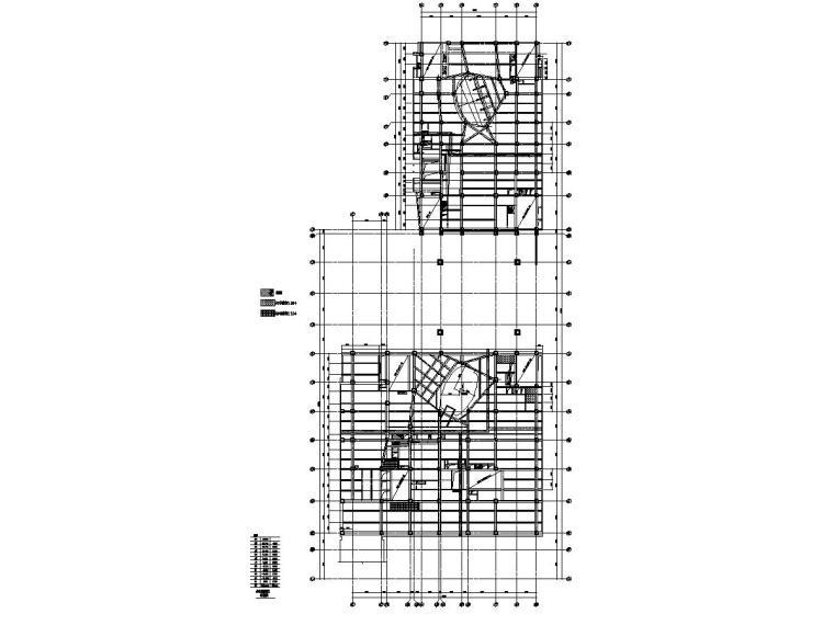 国贸三期3BS地上混凝土结构施工图(钢结构图纸归档)