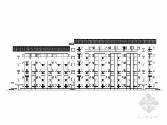 [四川]中式风格高中公寓楼及食堂建筑施工图(灾后重建项目)