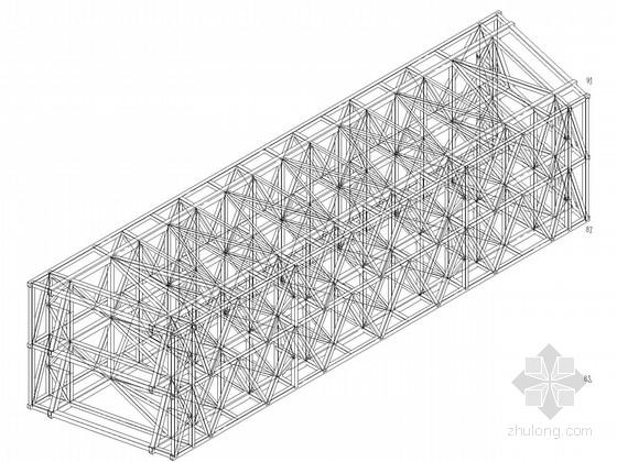 新增钢桁架连廊结构施工图