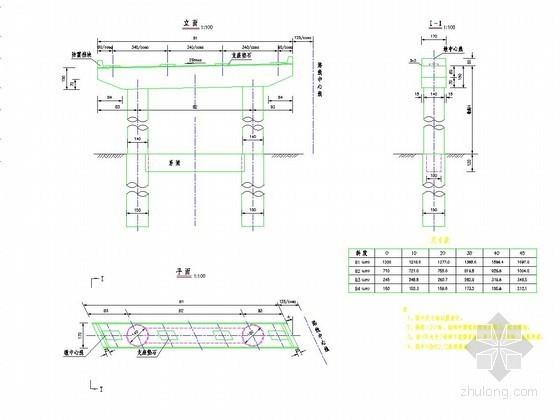 连续箱梁桥桥墩一般构造图设计