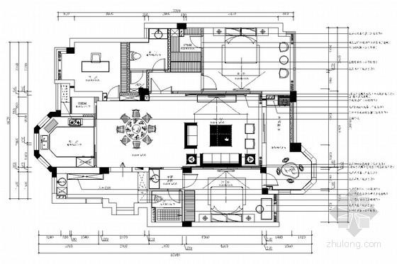 [浙江]高层住宅高档现代风格两居室装修图