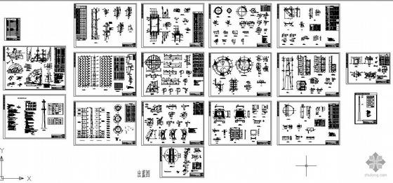 某热电厂烟囱结构设计图图片
