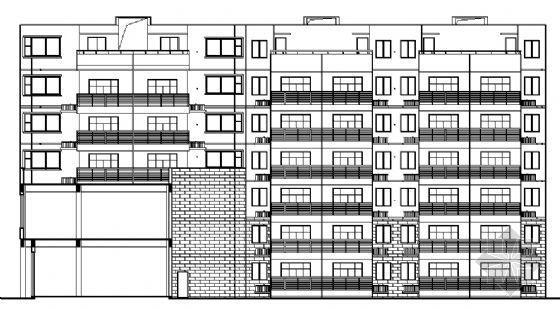 南昌某镇六层住宅楼建筑施工图