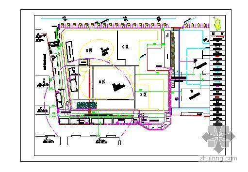 四川某高层各阶段施工现场平面布置图及临设详图