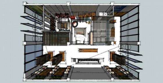 [广西]某名品牌木地板专卖店室内设计方案图