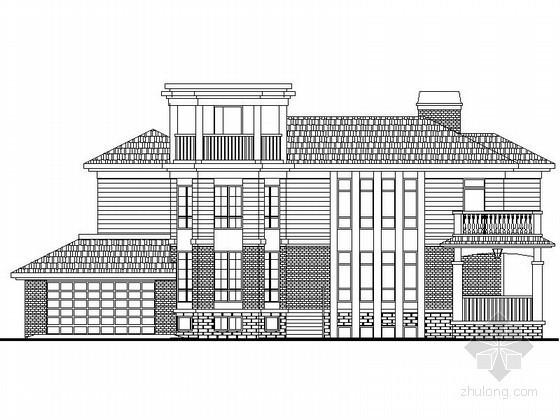某两层坡地豪华别墅建筑施工图