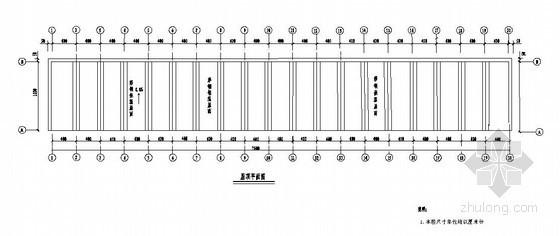 某彩钢结构小型车库结构设计图