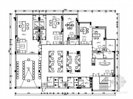 [江西]新中式投资公司办公室室内装修图(含效果)