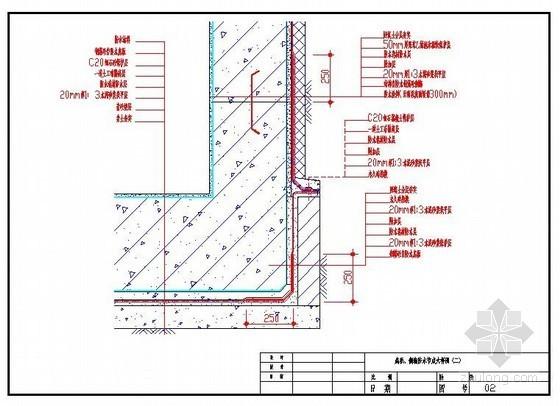 底板、侧墙防水节点大样图(二)