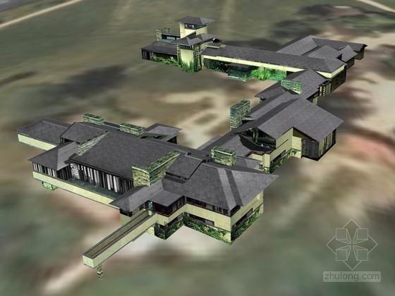 赖特住宅建筑SketchUp模型下载