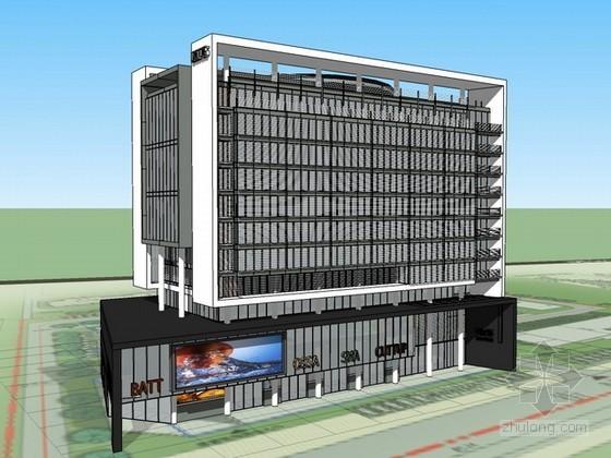 某办公楼设计sketchup模型下载