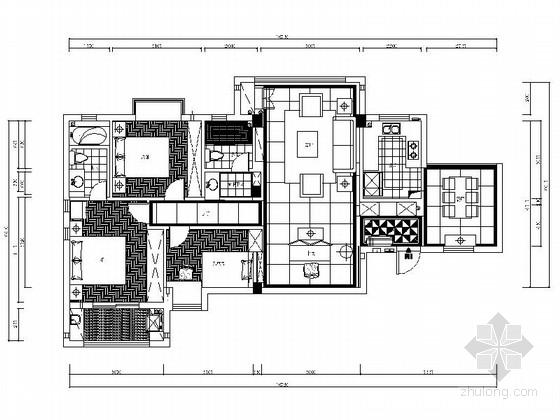某精品小区现代三室两厅室内装修图(含实景和效果)