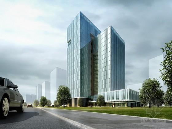 亚太总部办公楼建筑psd分层素材下载