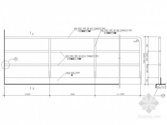[中英文对照]钢栏杆节点构造详图