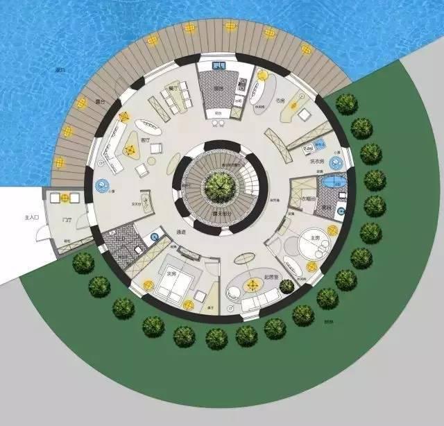深度解析!一个圆形户型的15个高超方案!_14