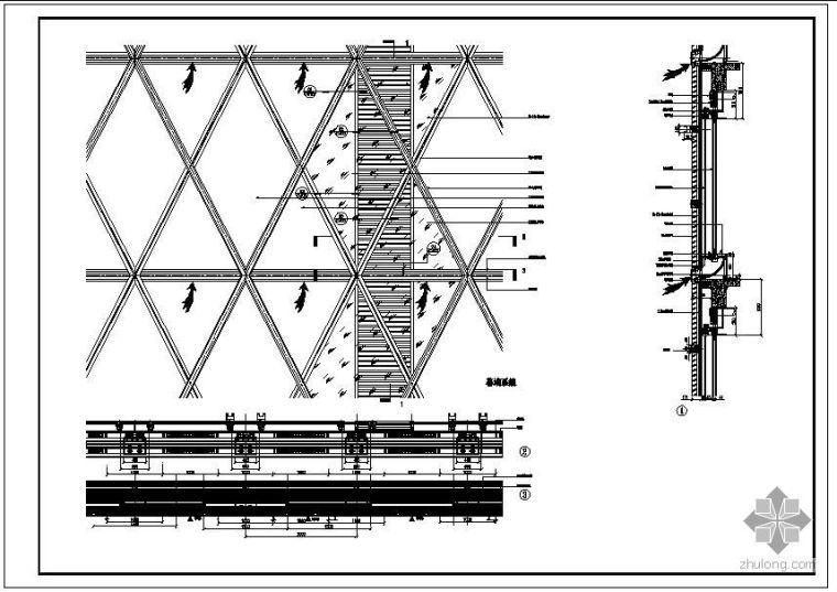 某混合式呼吸幕墙节点构造详图