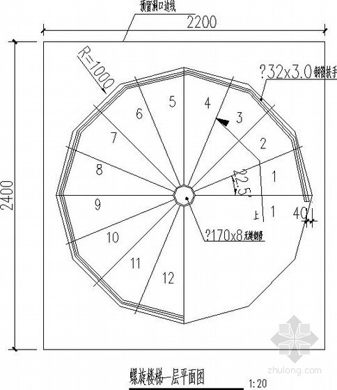 常用钢结构楼梯节点构造详图
