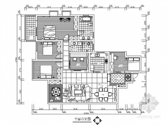 [湖南]精品欧式五室两厅两卫装修图