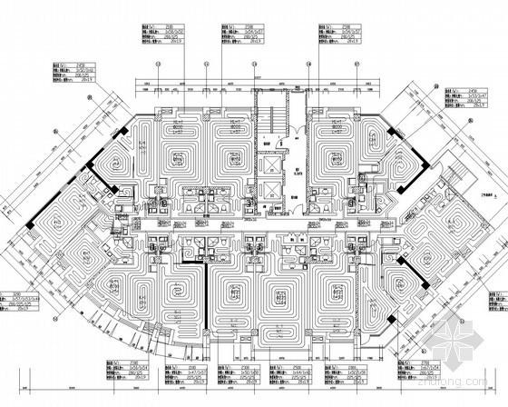 高层商住楼散热器及地板辐射采暖系统设计施工图