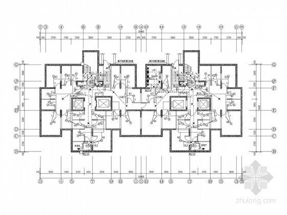 [河北]十八层住宅全套电气施工图纸