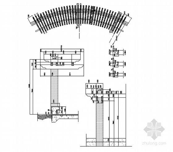 弧形木质花架施工详图