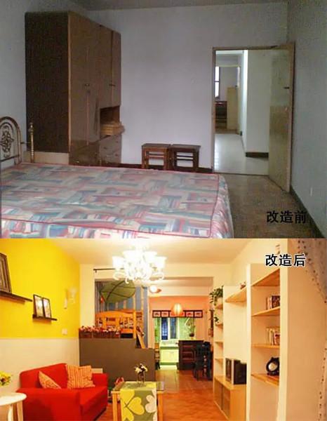 看巧改四十平小户型老房空间,变身时尚的三口之家_4
